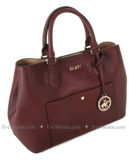 Women handbags from Beverly Hills Polo Club 589 - Claret Red