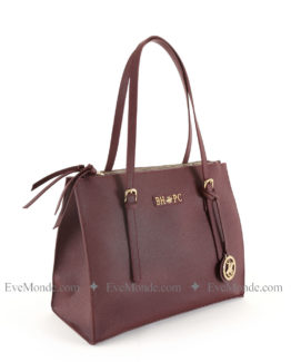 Women handbags from Beverly Hills Polo Club 859 - Claret Red