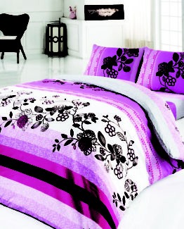 Baysal double  Duvet Cover Set  Wiona Lila