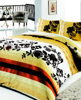 Baysal double  Duvet Cover Set  Wiona Yellow