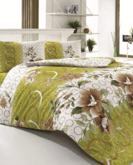 Baysal double  Duvet Cover Set  Bennu Green