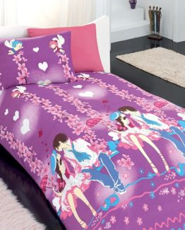 Baysal Single Duvet Cover Set  Kiss Pink
