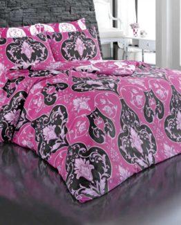 Baysal double  Duvet Cover Set  Şehrazat Pink