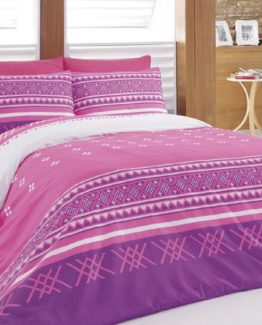Baysal double  Duvet Cover Set  Sirtaki Pink