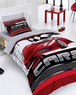 Belenay Single Duvet Cover Set  Sport Cars red