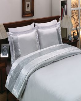 Monabianca Angel White double  Saten Duvet Cover Set
