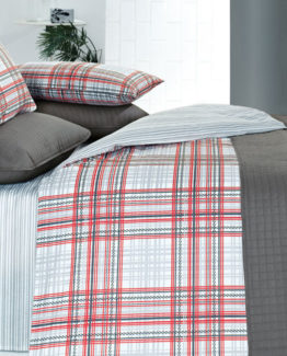 Kupon Buddy double Bed Covered Duvet Cover set-Gri