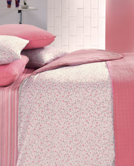 Kupon Buddy double Bed Covered Duvet Cover set-Pink