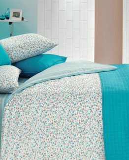 Kupon Buddy double Bed Covered Duvet Cover set-Turkuaz