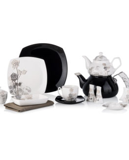 Schafer 42 Piece Diva Fine Bone Collection Breakfast Set SHF-620