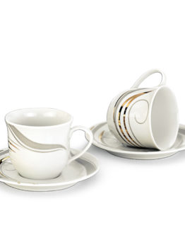 Schafer 12 Pieces Rolinda Porcelain Tea Cup SHF-10040