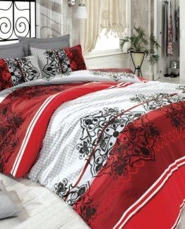 Diamond Single Duvet Cover Set  Elegance red