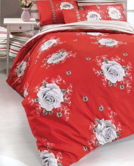 Kupon Single Duvet Cover Set  Rose red