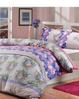 Soley double  Ranforce Duvet Cover Set -Violette Lila V2
