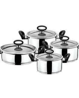 Schafer 8 Pieces Rotterdam Black pot Set