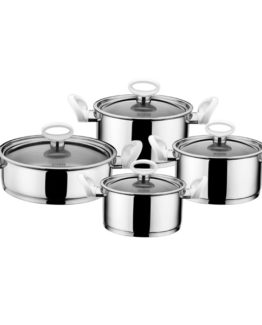 Schafer 8 Pieces Rotterdam White pot Set