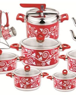 Ozkent 437 Albeni Dowry set 20 Pieces Red