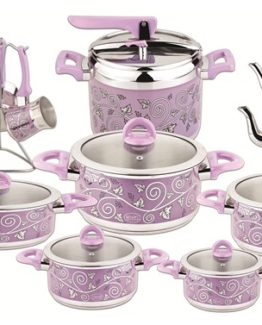 Ozkent 437 Albeni Dowry set 20 Pieces Lila