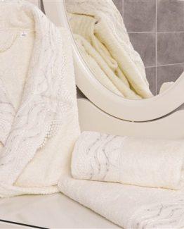 Minteks Cream-White 3`lü Personal Set-Heves