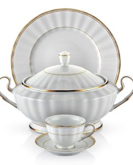 Schafer 86 Pieces Welle Collection Dinner set SHF-15002 Gold