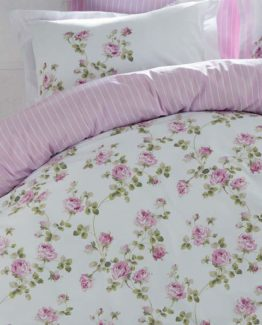Soley Single Ranforce Duvet Cover Set -Janice Pink