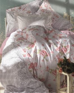 Soley double  Ranforce Duvet Cover Set -Ela Pomegranateflower