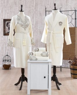 Minteks Romantic Briget Family set (Cream-Cream)