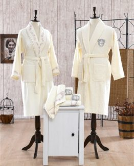 Minteks Romantic Clarice Family set (Cream-Cream)