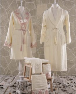 Minteks Romantic Melanie Family set (Cream-Cream)