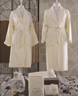 Minteks Romantic Naybıl Family set (Cream-Cream)