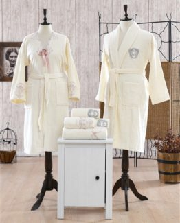 Minteks Romantic Ornella Family set (Cream-Cream)