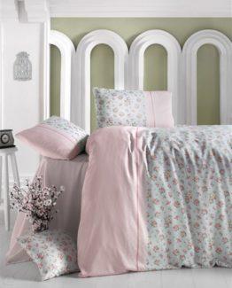 Minteks double  Duvet Cover Set  Fresh Pink