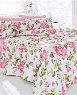 Minteks double  Duvet Cover Set  Flower Pink