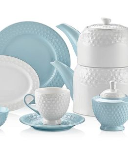 Schafer Eden Collection 34 Pieces Breakfast Set Blue (28741)