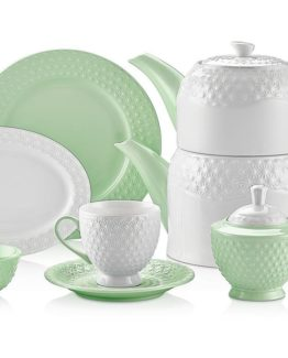 Schafer Eden Collection 34 Pieces Breakfast Set Green (28772)