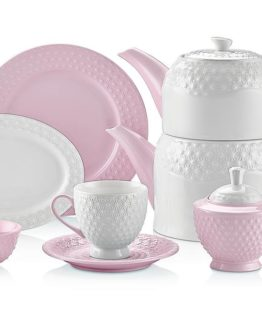 Schafer Eden Collection 34 Pieces Breakfast Set Pembe (28765)
