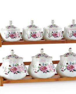 Schafer 15 Pieces Lila Fine Bone Spice Set 27461