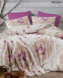 Minteks Ranforce Single Duvet Cover Set  Belissa