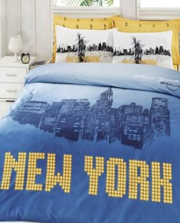 Baysal double  Duvet Cover Set  Newyork Blue