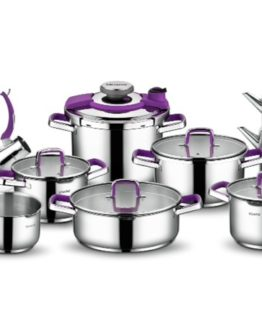 Schafer 18 Pieces Compakt Steel Dowry set Mor