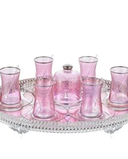 Schafer Palast Tea set - Heybeli 21 Pieces Pembe (PEM01)