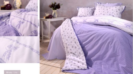 Soley double  Ranforce Duvet Cover Set - Melody Lila