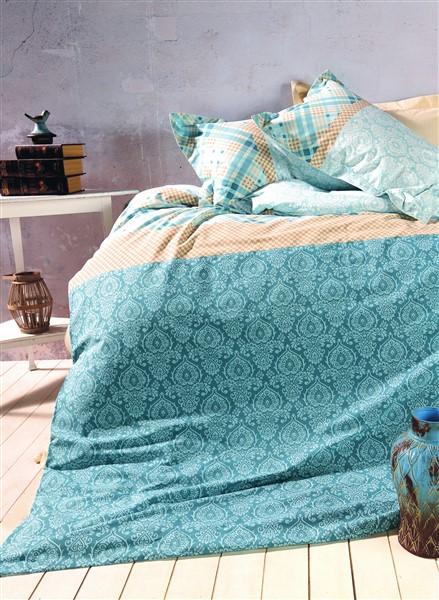 Soley Single Ranforce Duvet Cover Set - Milenaturquoise