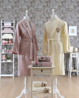 Minteks ParisBathrobe set (Poker)