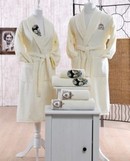 Minteks ParisBathrobe set (Rosemary)
