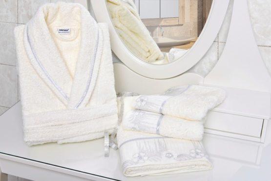 Minteks Cream-White Personal Set Şelale (Bayan)