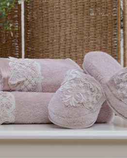 Minteks Princes Slipper li Towel set (Bety rose Kurusu)