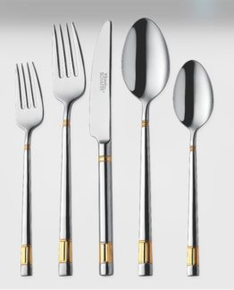 Schafer 85 Pieces Pure Gold fork Spoon Knife Set (2080)
