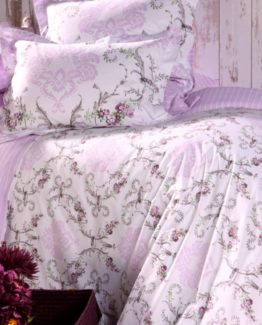 Soley Single Ranforce Duvet Cover Set - Marea Lila