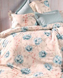 Soley Single Ranforce Duvet Cover Set - Mellyturquoise